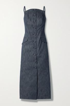 Carolina Herrera Denim Midi Dress - Dark denim