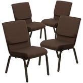 Church's Chair Flash Furniture Seat Finish: Brown