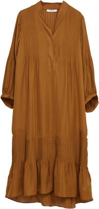 Dorothee Schumacher Fluid Luxury Pleated Silk Shirt Dress