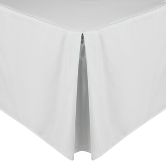 John Lewis & Partners 200 Thread Count Polycotton Centre Pleat Valanced Sheet