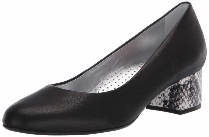 black pumps 1 inch heel