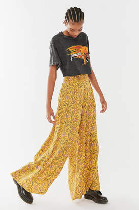 Urban Outfitters Jill Printed Pull-On Wide Leg Pant