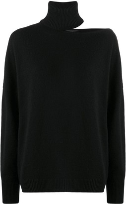 FEDERICA TOSI Split-Shoulder Roll Neck Sweater