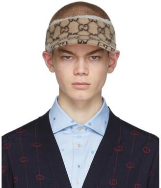 Gucci Beige Wool GG Visor