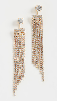 Loeffler Randall Cosima Diamonte Waterfall Earrings