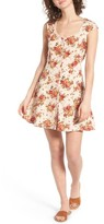 Angie Women's Floral Print Fit & Flare Dress
