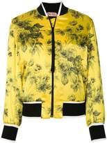No.21 floral bomber jacket