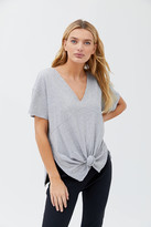 Out From Under Stay Gold Knotted Tunic Top