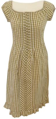 Philosophy di Alberta Ferretti Green Cotton Dress for Women