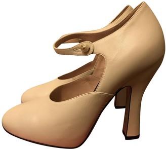 Gucci Ecru Leather Heels