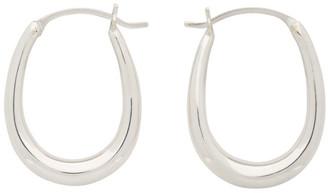 Sophie Buhai Silver Tiny Egg Hoop Earrings