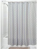 InterDesign Seahorse Fabric Shower Curtain, 72 x 72, Taupe/Mint