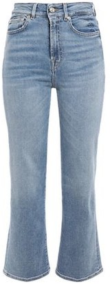 7 For All Mankind Faded High-rise Kick-flare Jeans