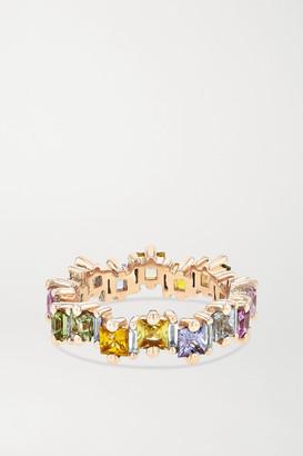 Suzanne Kalan 18-karat Rose Gold, Sapphire And Diamond Ring - 7