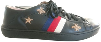 Gucci Ace Black Leather Trainers