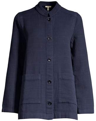 Eileen Fisher Organic Cotton Collar Jacket