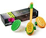 Cellulite Massager and Remover Brush Mitt Set - Anti Cellulite Massager, 100% Boar Bristle Dry Brush and Cellulite Brush - Get Rid Of Cellulite Naturally - Perfect As A Christmas Gift For Mom