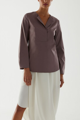 Cos Organic Cotton Bib Detail Shirt