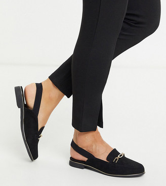 Simply Be extra wide fit elasticated loafer in black