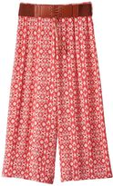 Speechless Girls 7-16 Belted Gaucho Pants