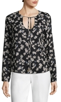 Lucca Couture Natalie Self-Tie Floral Top