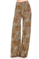 2LUV Women'sMix Print High Waisted Wide Leg Palazzo Pants M (US-1098VP-37-87)