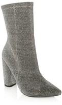 Glamorous Pointed Toe Metallic Sock Boots