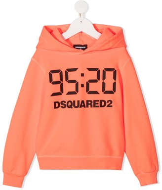 DSQUARED2 95:29 Logo-Print Hoodie
