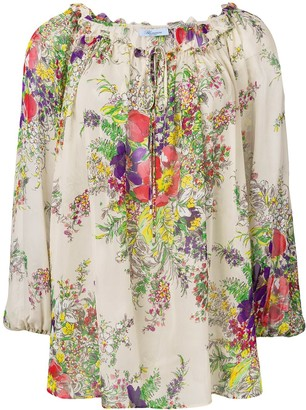 Blumarine Floral Loose Fit Blouse