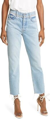 GRLFRND Karolina Crystal Trim Skinny Jeans