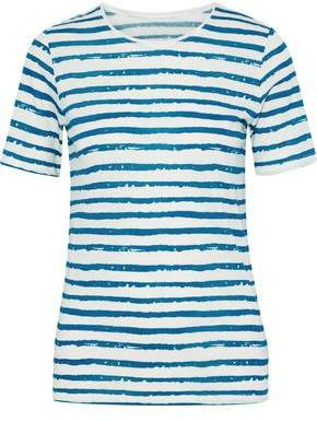 Majestic Filatures Striped Cotton And Cashmere-blend T-shirt