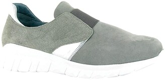 Naot Footwear Intrepid (Gray Nubuck/Speckled Beige Leather/Silver Mirror Leather) Women's Shoes