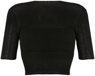 Dion Lee Sheer Ribbed Cropped Top