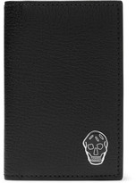 Alexander McQueen Skull-Embellished Leather Bifold Cardholder