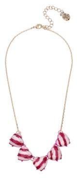 "Betsey Johnson Peppermint Heart Necklace, 16.5"" + 3"" extender"