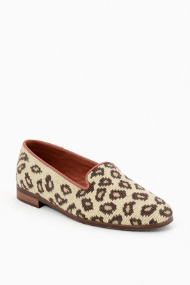 By Paige Beige Leopard Needlepoint Loafers