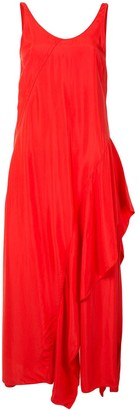 Kenzo Ruffle Detail Long Dress