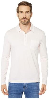 Billy Reid Long Sleeve Pensacola Polo (Rose) Men's Clothing
