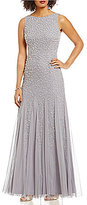 Adrianna Papell Pearl Beaded Sleeveless Gown