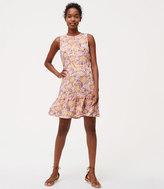 LOFT Petite Wildflower Flounce Dress