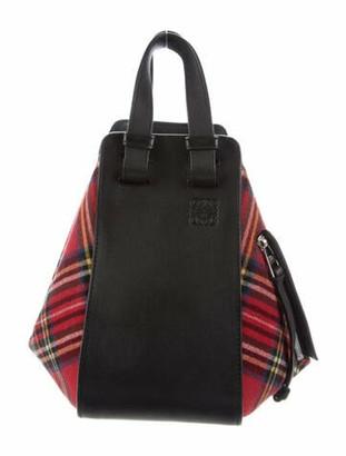 Loewe Tartan Small Hammock Bag Red