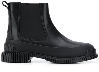 Camper Ribbed-Sole Ankle Boots