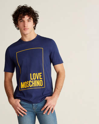 Love Moschino Rectangle Logo Tee