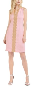 Pappagallo Brooke Lace-Trim Sheath Dress