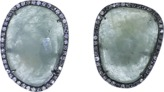 Monique Péan Grey Sapphire And Diamond Stud Earrings