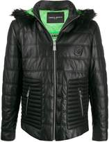 Frankie Morello quilted leather jacket