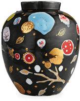 Coralla Maiuri Painted Porcelain Vase, Gray Medium