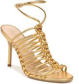 Via Spiga Paula Heeled Metallic Sandals