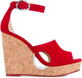 Jimmy Choo 'Neyo 120' Wedge Heeled Sandals - women - Cork/Leather/Suede/metal - 40