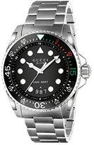 Gucci Men's Swiss Quartz Stainless Steel Dress Watch, Color:Silver-Toned (Model: YA136208)